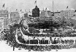 عيد العمال -نيويورك 1882
