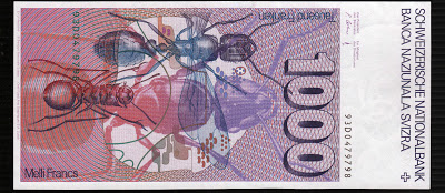 Switzerland currency 1000 Swiss Francs bank notes money images